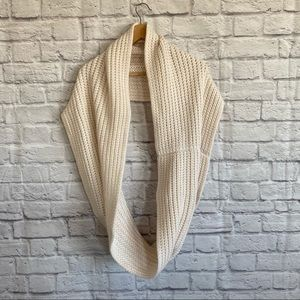 J. CREW Beautiful Soft Knit White Infinity Scarf